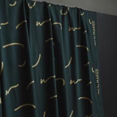 Cuff éco Tex revers tissu côtelé mailles uni clair pastel vert 24278