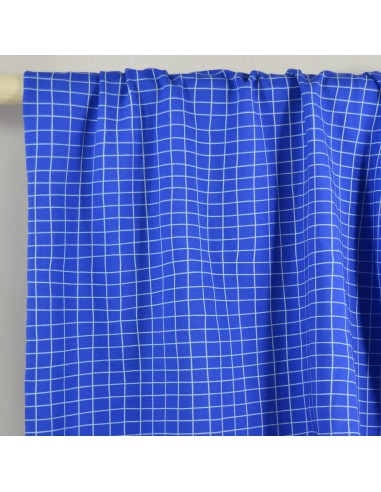 Tissu Jersey Grid Blue - Fabrics and...