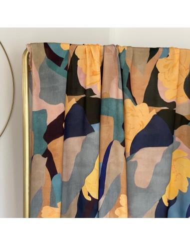 Tissu Crêpe de Viscose - Art Print...