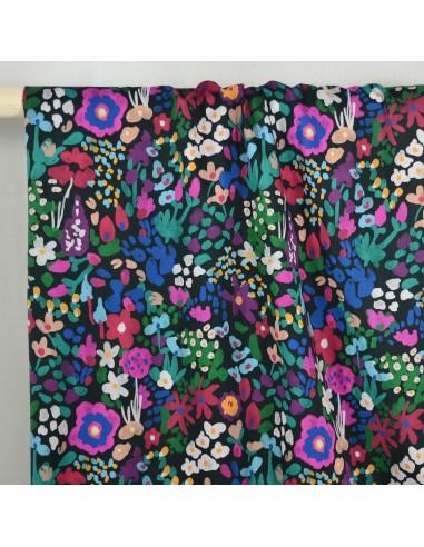 Tissu Batiste Coton - Blush Blooms -...