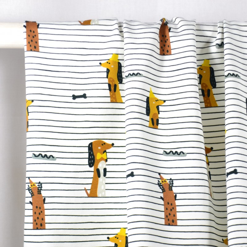 Tissu Jersey Party Stripes - Fabrics...